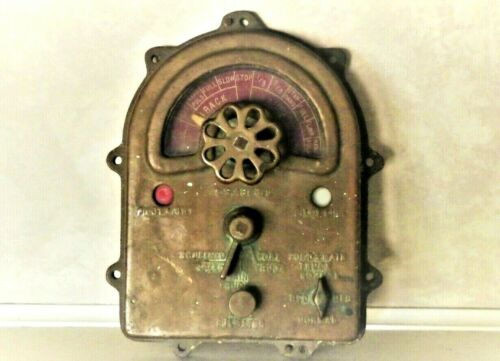 Rare WW2 US Navy Destroyer Copper Bridge Telegraph Face Plate True Wartime Relic