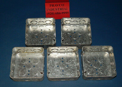 Lot Of 5 Eaton Crouse-hinds Tp563 Electrical Outlet Box 4-11164.6875 Square