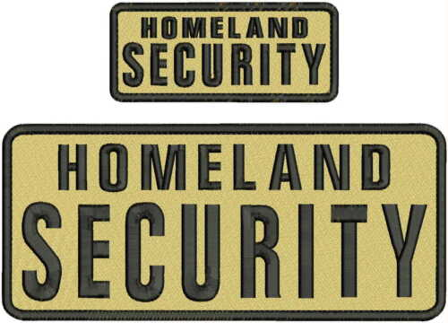 HOMELAND SECURITY Embroidery Pachrt 4x10 and 2x5 hook on back tan/blk