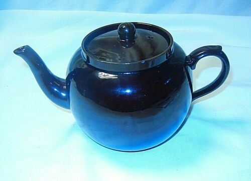 Rare Vintage Stoneware 4 cup Tea Pot Brown Betty ENGLAND Pearsons Chesterfield
