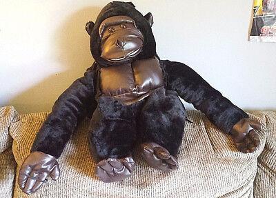 Safari Girl Costume (Kids Safari Gorilla Plush Halloween Costume Wrap N Ride Monkey One Size Boy)