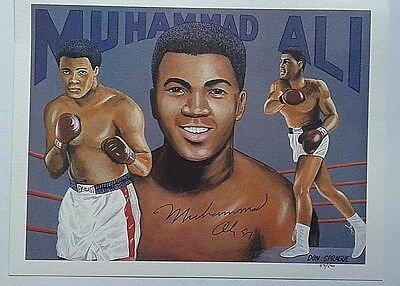 MUHAMMAD ALI SIGNED IN 1987 8 X 10 LIMITED EDITION IMPRESSION NUMBERED 89 / 500
