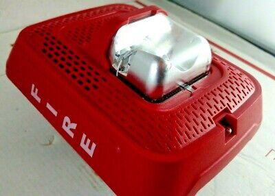 System Sensor Spsrl Red Fire Alarm Speaker Strobe Wall Mount No Mounting Plate
