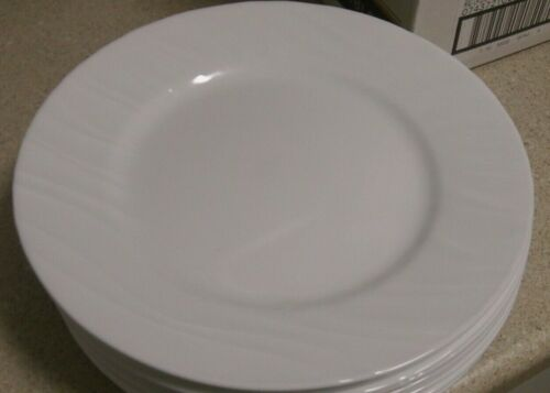 "Corelle Swept Dinner Plates, set of 4, NEW 10-3/4"", STUNNING!                 D0"