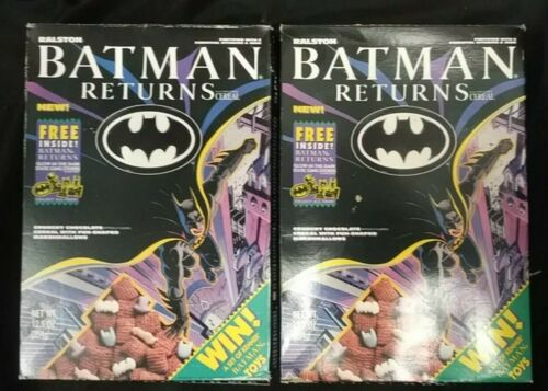2 Boxes of Batman Returns Cereal Sealed with Glow in the Dark Stickers