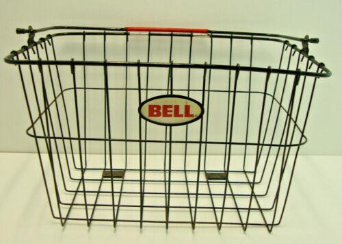 Vintage BELL Bike Bicycle Wire Basket Black Large Handle without Hanger