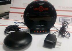 Sonic Boom SBB500ss Sonic Bomb Loud Plus Vibrating Alarm Clock Fully Functional
