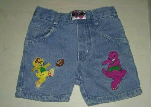 BARNEY Lyons Group Purple DINOSAUR Vintage Toddler Child 2T Denim Shorts