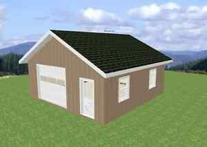 $ 26,000 24 X 24 SINGLE CAR GARAGE PACKAGE ON YOUR SITE
