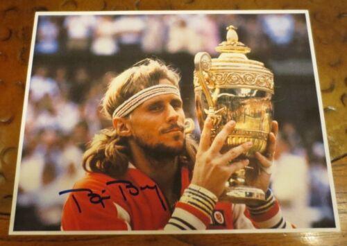 Bjorn Borg Pro Tennis Player signed autographed photo 5 x Wimbledon Champion