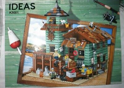 US Seller~ The Old Fishing Store Blocks UNBRANDED COMPATIBLE with Lego No Box