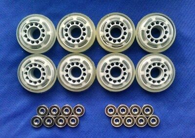 Outdoor Rollerblade Inline Hockey Fitness Skate Wheels 70mm 78A ABEC7 Bearings