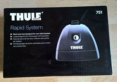 Thule 751 Rapid System Foot-Pack Load Carrier Feet for Pre Installed Fixpoints