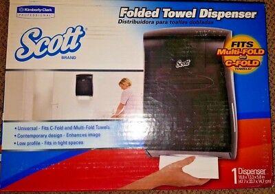 Kimberly-Clark Scott Brand Folded Towel Dispenser - C-Fold or Multi-Fold