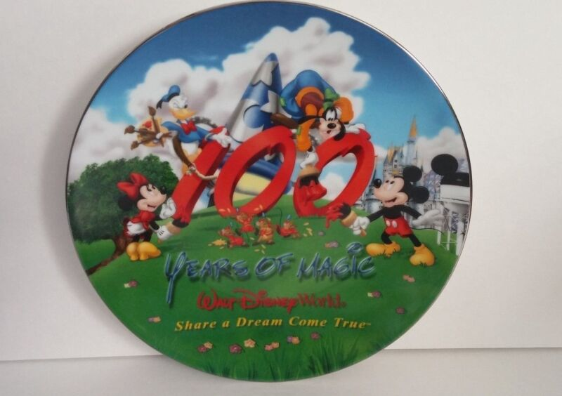 Walt Disney 100 Years of Magic Dreams Come True Mickey Mouse Collector Plate
