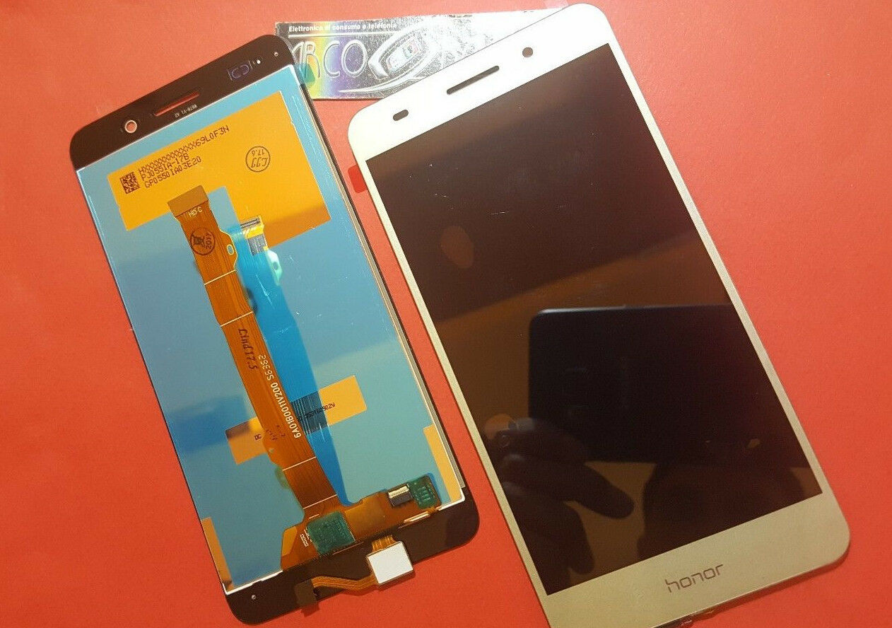 PR1 DISPLAY LCD+ TOUCH SCREEN per HUAWEI Y6 2 II HONOR ORO GOLD VETRO CAM-L21