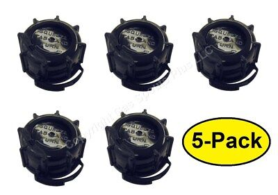 5-pk Genuine Midwest Can Co. Gas Fuel Gallon Diesel Black Screw Cap Collars Oem