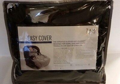 7AM Enfant Stroller Car Seat Winter Blanket Bunting Fleece Black Large 7 AM NEW -