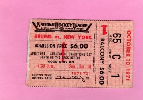 1971-1972 Boston Bruins Stanley Cup Champs Ticket Pass Lot of 4/ Bobby Orr/Espo