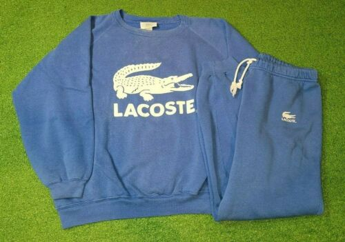 Vintage CHEMISE LACOSTE Izod Sweat Suit Sweatshirt Pants Blue 1980s Adult Size L