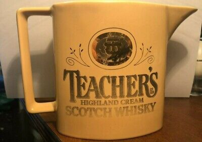 Teachers Highland Cream Scotch Whiskey Water Jug Vintage