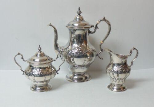 Gorham CHANTILLY DUTCHESS Sterling Silver 3-Piece Tea Set, c. 1967