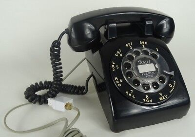 Vintage Black Rotary Dial Telephone - Northern Electric - Made in Canada 1970's