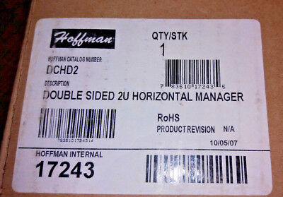 Hoffman DCHD2 Double Sided 2U Horizontal Cable Manager