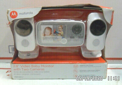 """Motorola 2.8"""" MBP483-2 Video Baby Monitor with 2 Cameras 2.8In Screen Open Box!"""