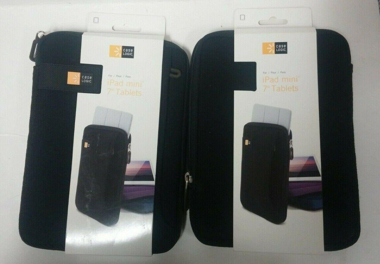 "2 Case Logic iPad Mini 7"" Tablets Black Case"