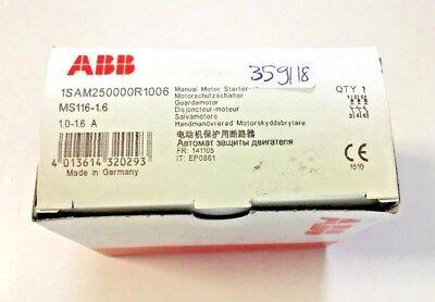 ABB MOTORSCHUTZSCHALTER MS116-1,6 Modell 1SAM250000R1006     359/18