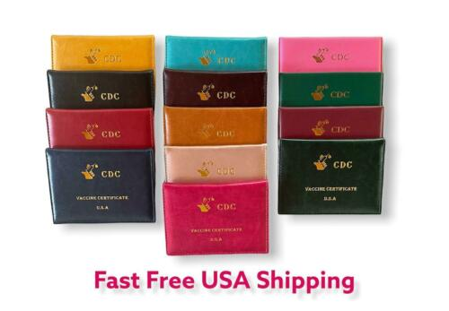 """Vaccination Card Holder 4x3"""" Vaccine Protector CDC Wallet Certificate Color"""
