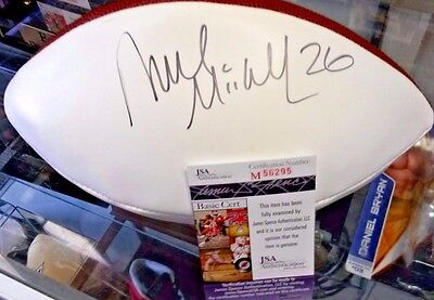 Deuce  McAllister Signed FULLSIZE FOOTBall New Orleans Saints JSA COA WITH CASE
