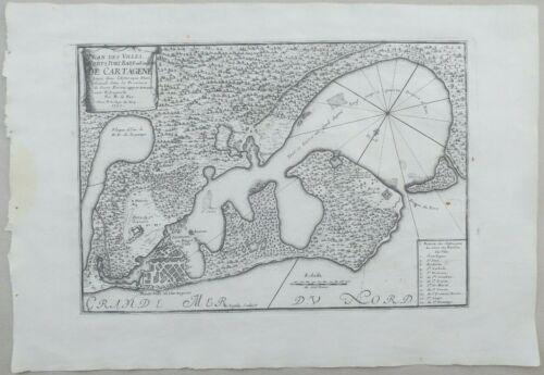 cartagena colombia. Nicolas de Fer 1705 Map