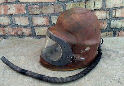 Vintage Steampunk Industrial Sandblast Helmet Panorama