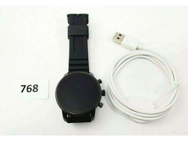 Fossil Men's Gen 4 Explorist HR Stainless Steel Touchscreen Smartwatch FTW4018