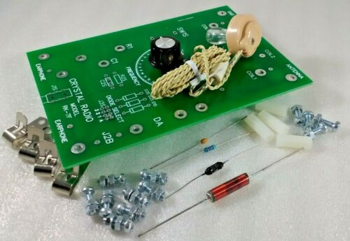 Unassembled Solderless Crystal Radio Receiver with Piezo Earphone RK-7FSL