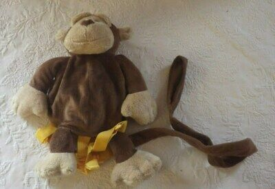 Animal Planet Monkey Backpack Bag Childs Brown Yellow - Animal Planet Kids Bag