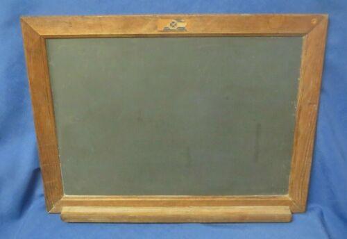 Vintage National School Slate Co Hanging Slate Chalkboard w/Tray 22 1/2X17