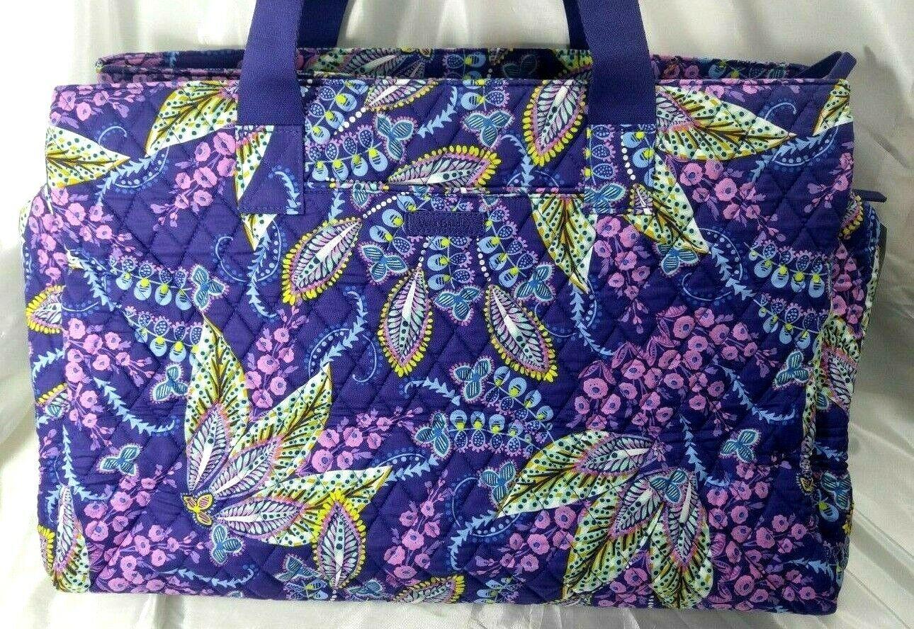 s triple compartment travel bag in batik