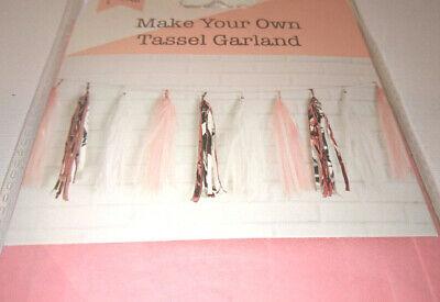 ink White TISSUE Metallic BRIDAL BABY SHOWER PRINCESS PARTY (Tissue Tassel Garland)
