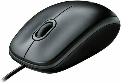 Logitech B100 Corded Mouse – Wired USB Mouse for Computers and laptops for Ri...