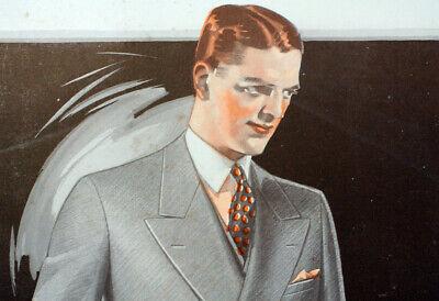 Vintage Men's Fashion Suits Coats Advertising 1920s Dapper Attire Mens Style A10 - 20s Fashion Mens