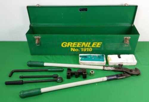 GREENLEE 796 1905 706 1910 CABLE WIRE BENDING CUTTING STRIPPING KIT