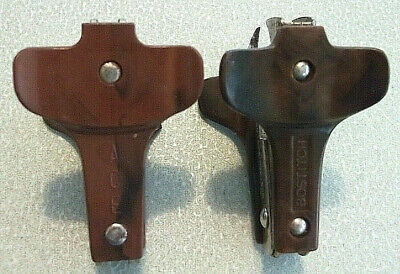 Lot Of 2 Vintage Brown Plastic Metal Staple Removers Ace Usa Bostitch Hong Kong