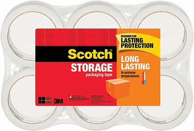 Scotch 3m Storage Packing Tape - 6 Rolls Heavy Duty Shipping Packaging Moving