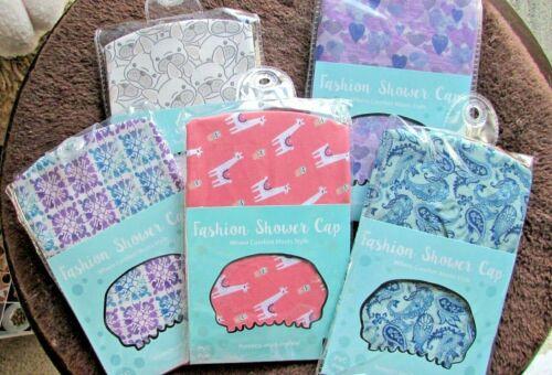 Home Wear Fashion Fabric Shower Cap FROM USA!