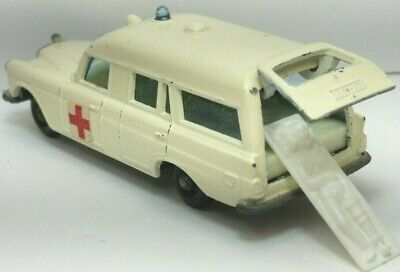 1968 Mercedes Benz Ambulance No3, Matchbox Lesney Original Vintage with Patient!