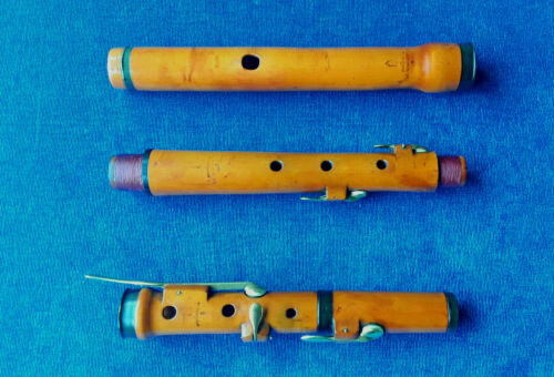 Antique Old Vintage Wooden Boxwood Flute A. Ridval