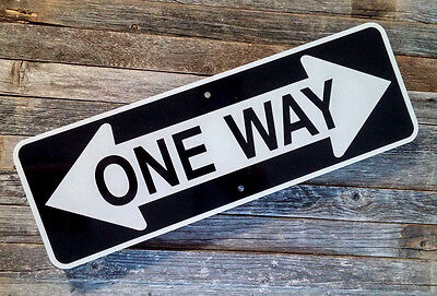 "CRAZY ONE WAY SIGN    -   6"" X 18""  - Reflective Aluminum Street Sign"